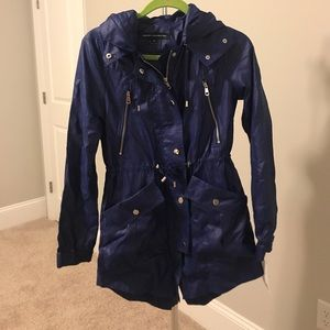 Royal Blue French Connection Rain Coat